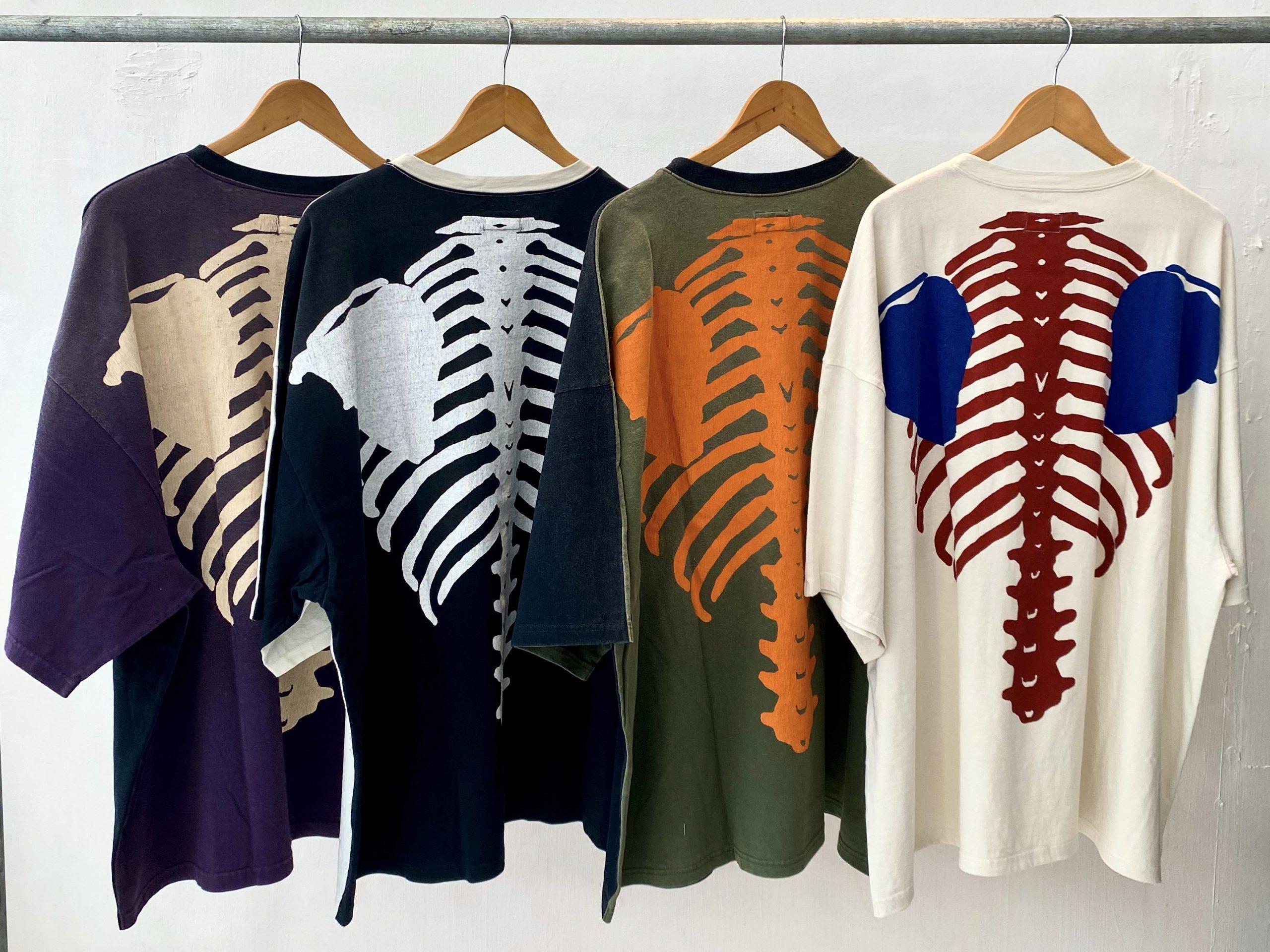 KAPITAL 天竺 2TONE BIGポケT(BONEプリントTEEシャツ)